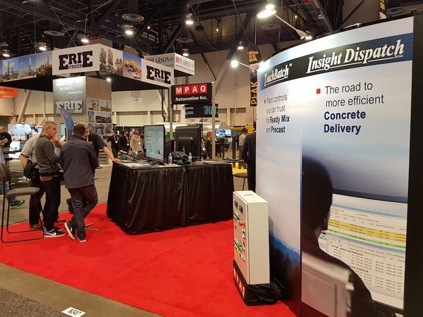Hello, World: Greetings from our booth at World of Concrete!